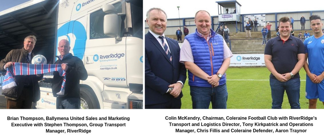 Brian Thompson, Ballymena United Sales and Marketing Executive with Stephen Thompson, Group Transport Manager, RiverRidge